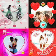 Romantic love photo frames