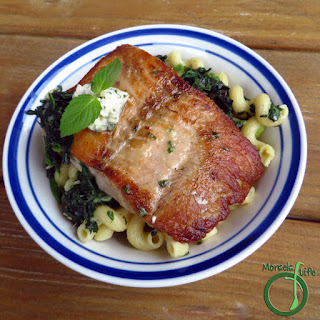 Seared Salmon and Lemon Butter Pasta