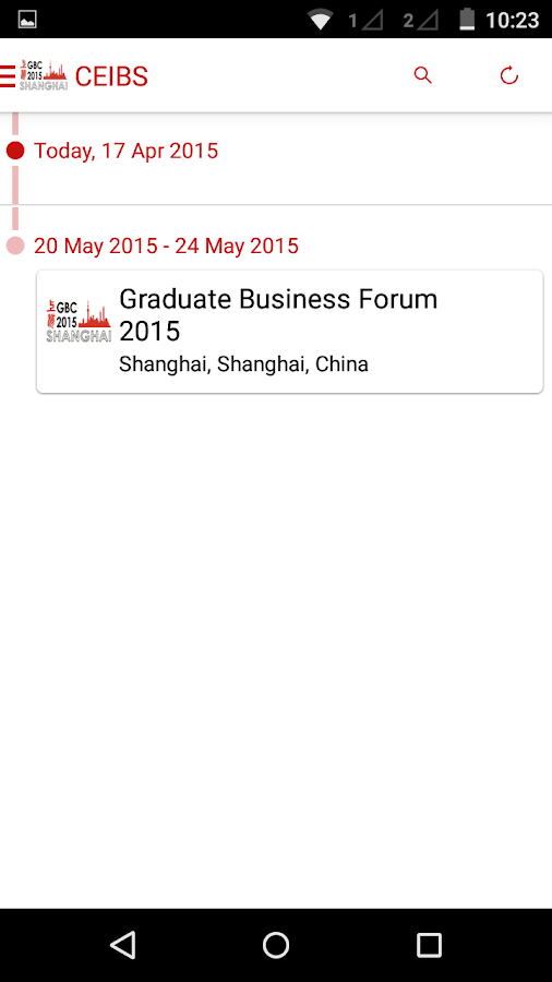 CEIBS GBC 2015- screenshot