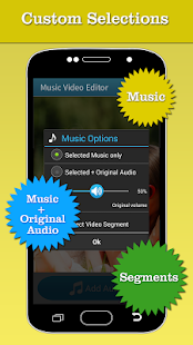 Music Video Editor Add Audio Screenshot