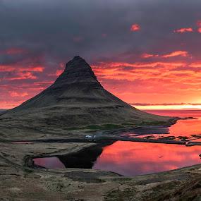 ..sunrise.. by Ruslan Stepanov - Landscapes Mountains & Hills ( clouds, kirkjufell, mountains, iceland, ocean, sunrise )
