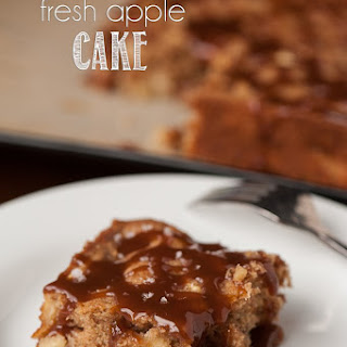Salted Caramel Fresh Apple Cake