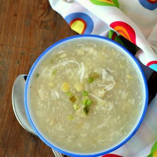 Sweet Corn Chicken Soup.