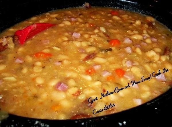 Great Northern Bean N Ham Soup / Crock Pot Recipe