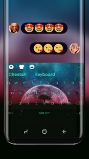 Neon Moon Night Keyboard Theme - náhled