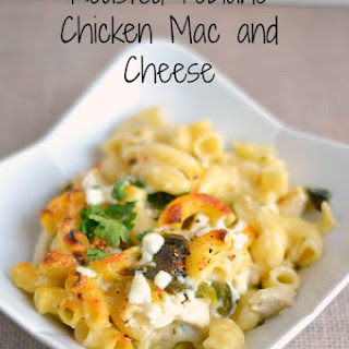 Roasted Poblano Chicken Mac and Cheese #recipe #food
