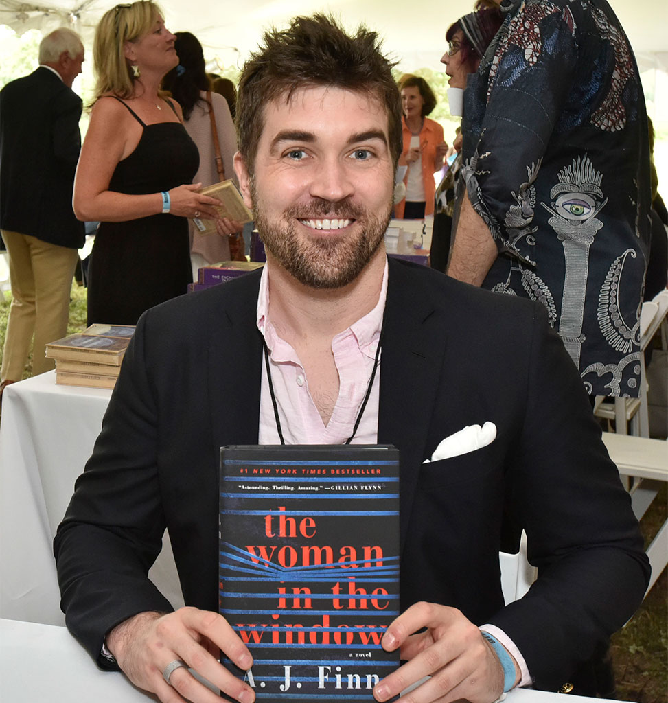 A.J. Finn real name, Dan Mallory, author of The Woman in the Window.