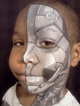 Photo: Robot face paint by Teressa, Newport Beach, Ca.Call to booked Teressa for your next event: 888-750-7024