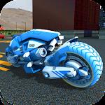 Sci Fi Bike Parking & Driving School 3D Icon