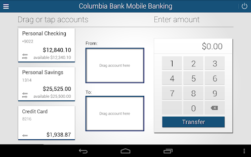 Columbia Bank Mobile Banking- screenshot thumbnail