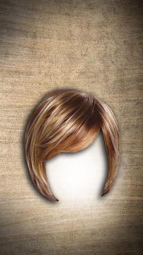 女性のヘアスタイルフォトモンタージュ