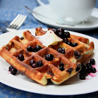 Blueberry Coconut Waffles – Low Carb and Gluten-Free.
