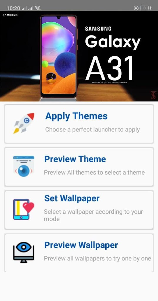 Themes For Samsung Galaxy A31 Launcher Theme Pro Latest Version Apk Download Com Needle Samsunggalaxythemes Samsunggalaxya31 Themesandwallpapers Apk Free