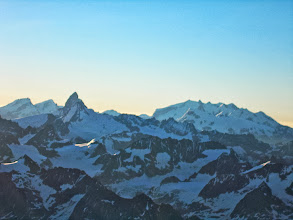 Photo: Looking over to the Matterhorn & Monte Rosa