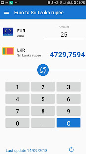 Download Euro to Sri Lanka rupee / EUR to LKR Converter For PC Windows and Mac apk screenshot 1