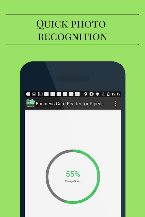 Biz Card Reader for Pipedrive- screenshot