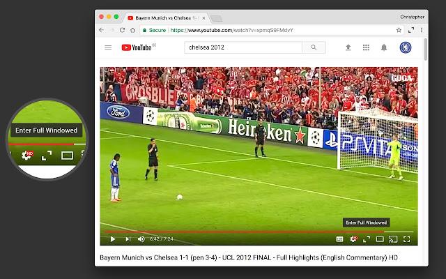 YouTube Full Windowed