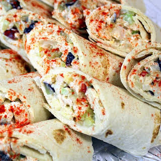 Million DollarChicken Salad Wraps -.