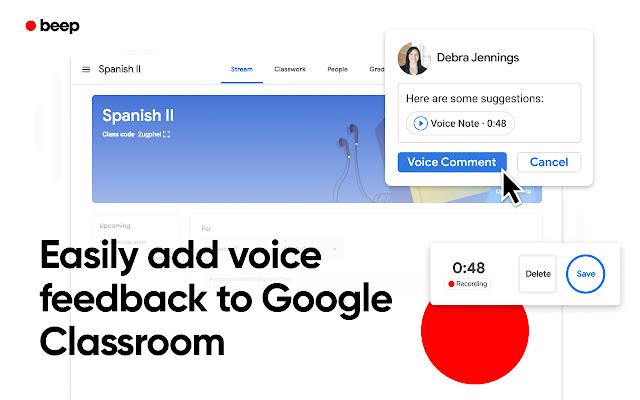 Audio Recordings for Google Classroom - Beep