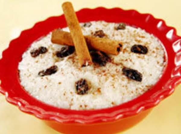 Cococonut Rice Pudding And Raisins /arroz Con Dulce