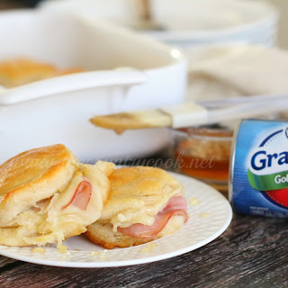 Warm Honey Ham Biscuits