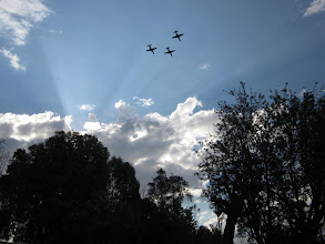 Photo: Flyover by the Air Force  (Photo Credit: Nathan)