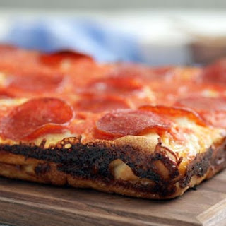 Cheese Lover's Grilled Cheese Crust Detroit Style Pizza.