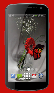 Butterfly Vase Live Wallpaper Theme - náhled