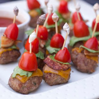 Mini Turkey Bacon cheeseburger appetizers