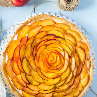 Nectarine Coconut Tart with Cream Cheese and Whipped Cream Filling Recipe