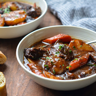 Beef Stew with Carrots & Potatoes.