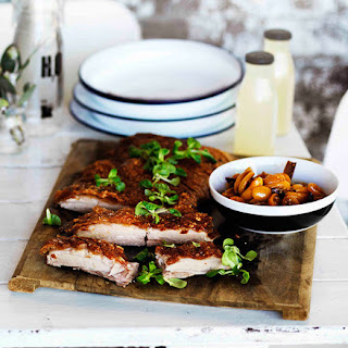Roast Confit Pork Belly with Cumquat Relish Recipe