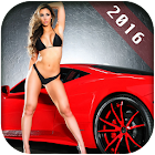 Hot Car Girl Wallpaper icon