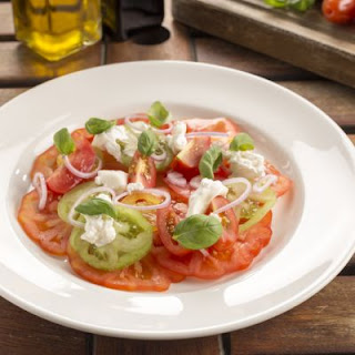 Heirloom Tomatoes And Goat Cheese Salad.