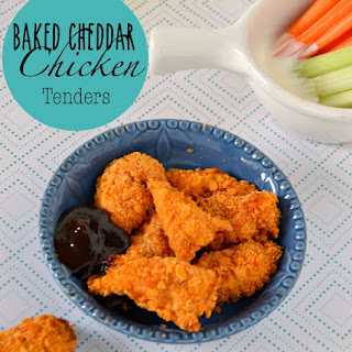 Baked Cheddar Chicken Tenders