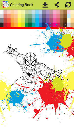 Superhero Infinity Coloring book for kids 1.0 screenshots 1