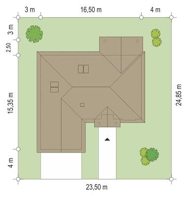 Dom na parkowej - Sytuacja