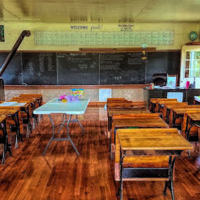 Amish School Room by Sandy Considine - Artistic Objects Other Objects ( amish, desks, class rooom, school room,  )