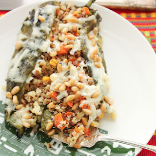 Quinoa-Stuffed Chile Rellenos