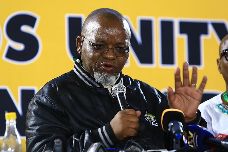 ANC SG Gwede Mantashe addressing the media ahead of the ANC Elective conference in Nasrec.