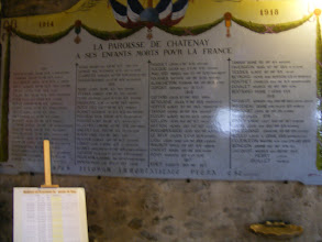 Photo: A very typical memorial here, with the names of parishioners who sacrificed their lives in WW I.