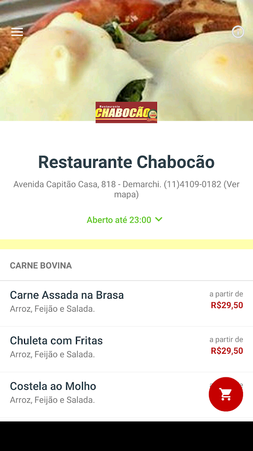 Restaurante Chabocão- screenshot