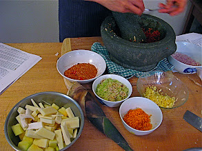 Photo: preparing for hot sour curry