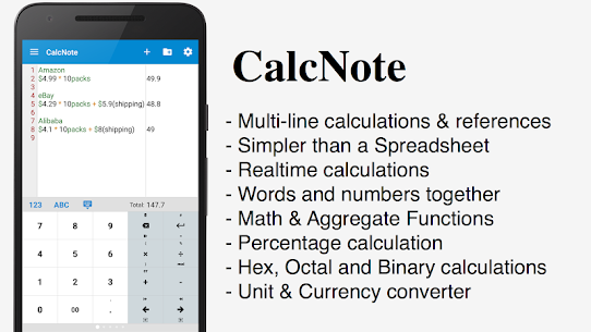 CalcNote Pro – Math Calculator Patched APK 1