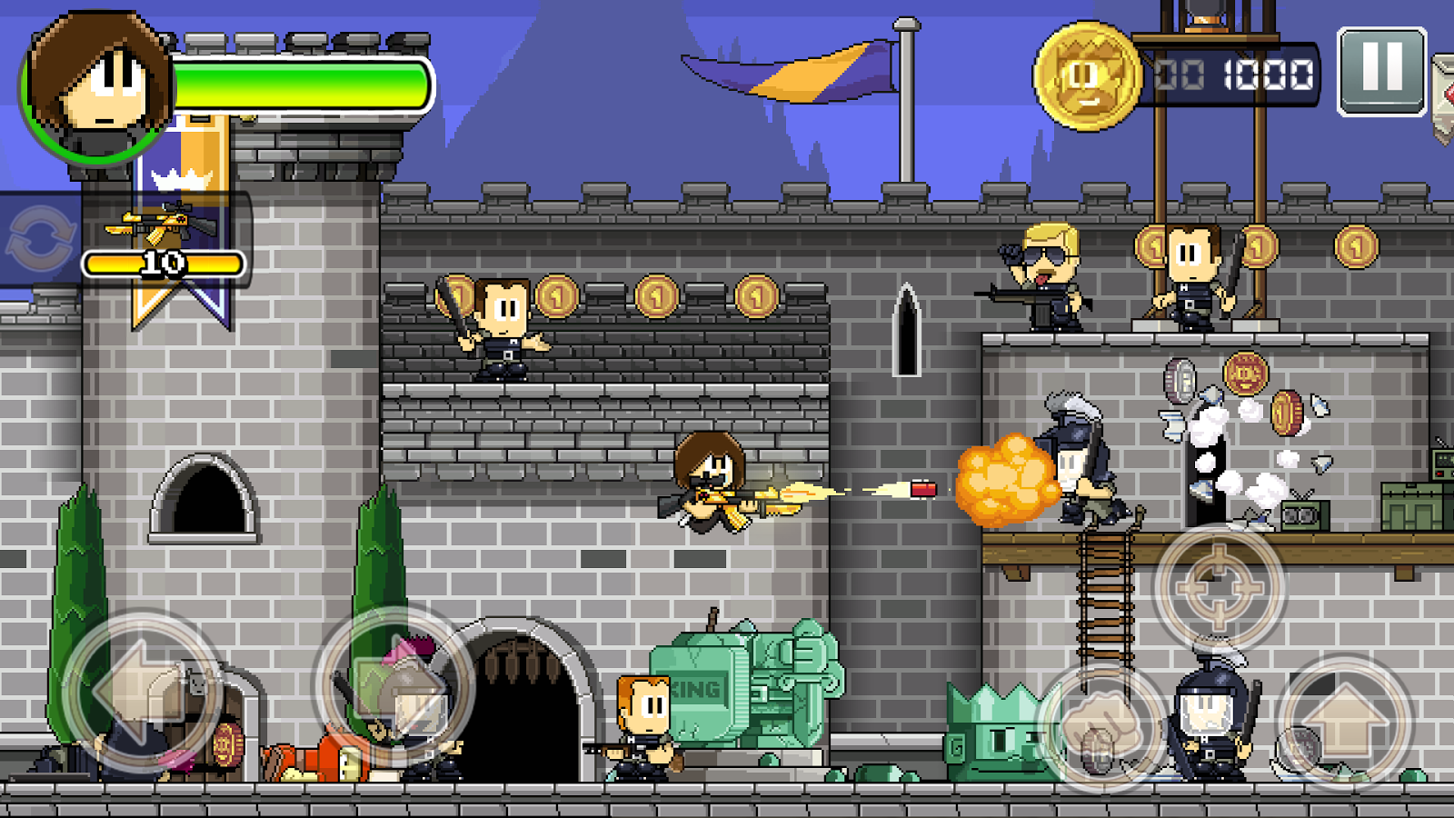 Dan the Man: Action Platformer: captura de pantalla