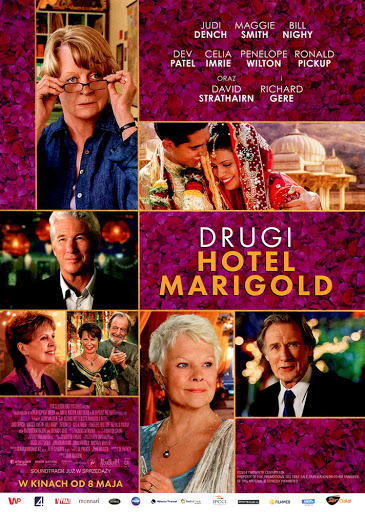 Przód ulotki filmu 'Drugi Hotel Marigold'