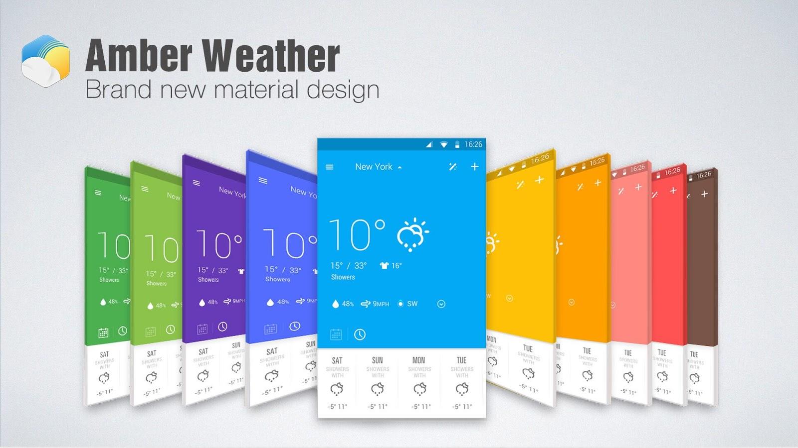 Amber Weather & Clock Widget - screenshot
