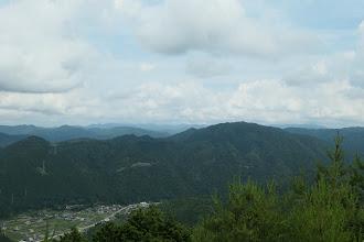 白山方面(白山は雲の中)