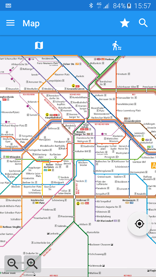 Berlin Subway UBahn SBahn Map BVG Android Apps On Google - Berlin us bahn map