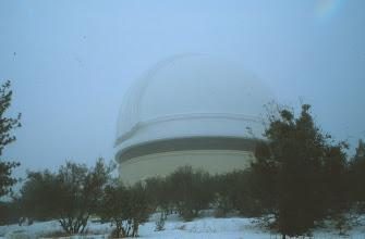 Photo: Mt Palomarin observatorio - rannikolla puista saattoi poimia appelsiineja mutta 1,7 km:ssa oli lunta ja autossa piti olla lumiketjut